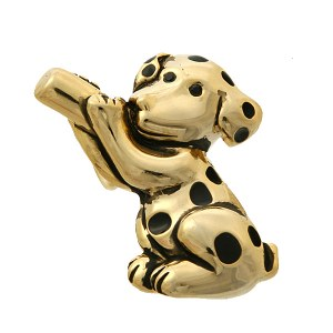 Dalmatian Puppy Gold Pendant/ Pin