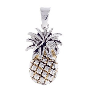 Pineapple Pendant Two Tone