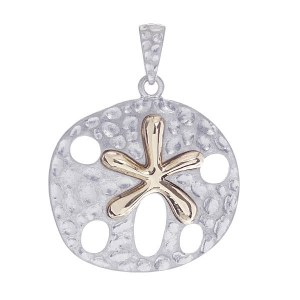 Two Tone Sand Dollar Slide Silver
