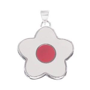 Star Flower Slide White/Red
