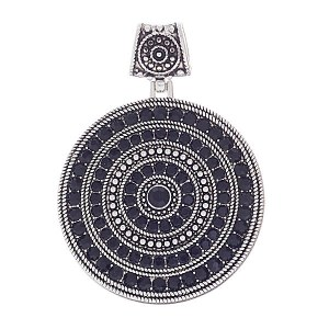 Circle Pendant Slide Black