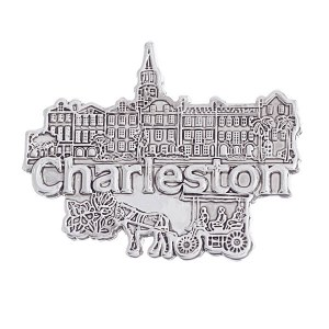 Charleston Pendant / Pin Silver