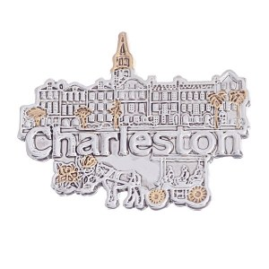 Charleston Pendant / Pin Two Tone