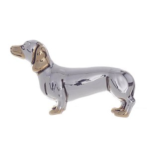 Daschund Two Tone Pendant / Pin