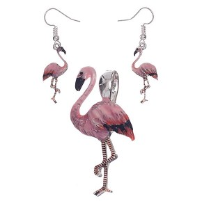 Flamingo Pendant Set