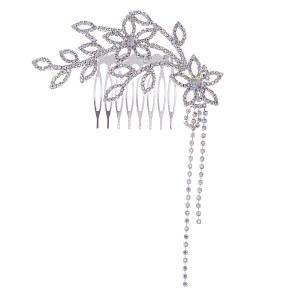 Rhinestone Floral Branch Hair Comb