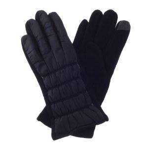 Light Puffer Touch Screen Gloves Black