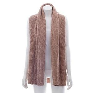 Wool Blend Open Vest Dusty Pink