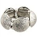 Hammered Antique Silver Button Bracelet