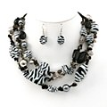 Zebra Print & Silver Layered Set