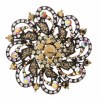 Swirling Flower Metallic Brown Pin