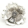 Dogwood Flower Silver Pendant/ Pin