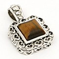 SQUARE STONE PENDANT CAT'S EYE