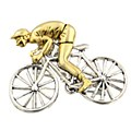 Bike Racer Two Tone Pendant/ Pin