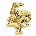 Safari Gold Pendant/ Pin II