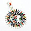 Round Pendant Bright Multi