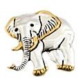 Classic Elephant Two Tone Pendant/ Pin