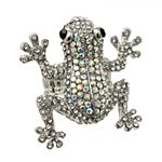 Crystal Frog Ring