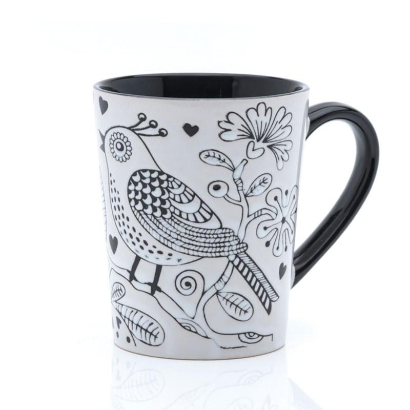 Bird Stencil Mug (14oz)