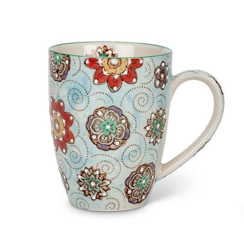 Blue Floral Mug (8oz)