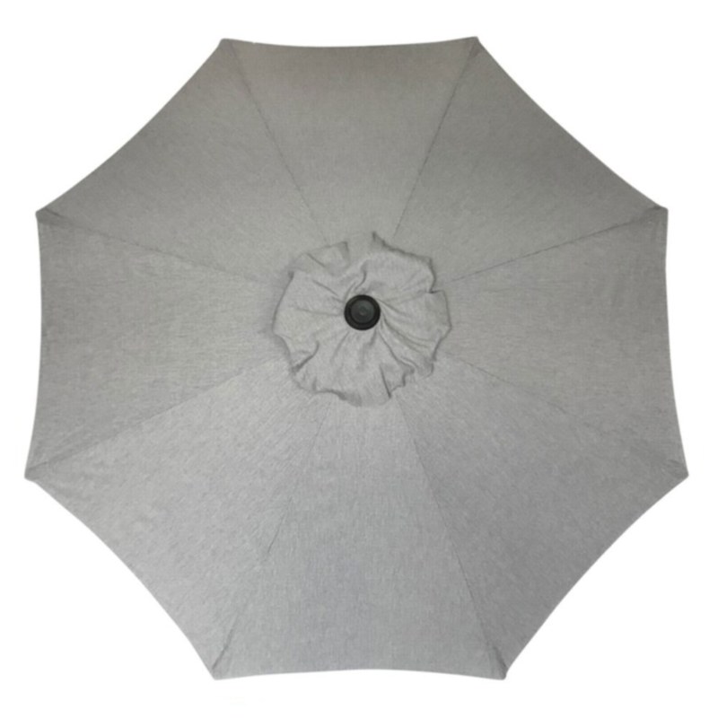 9' Autotilt Umbrella Grey