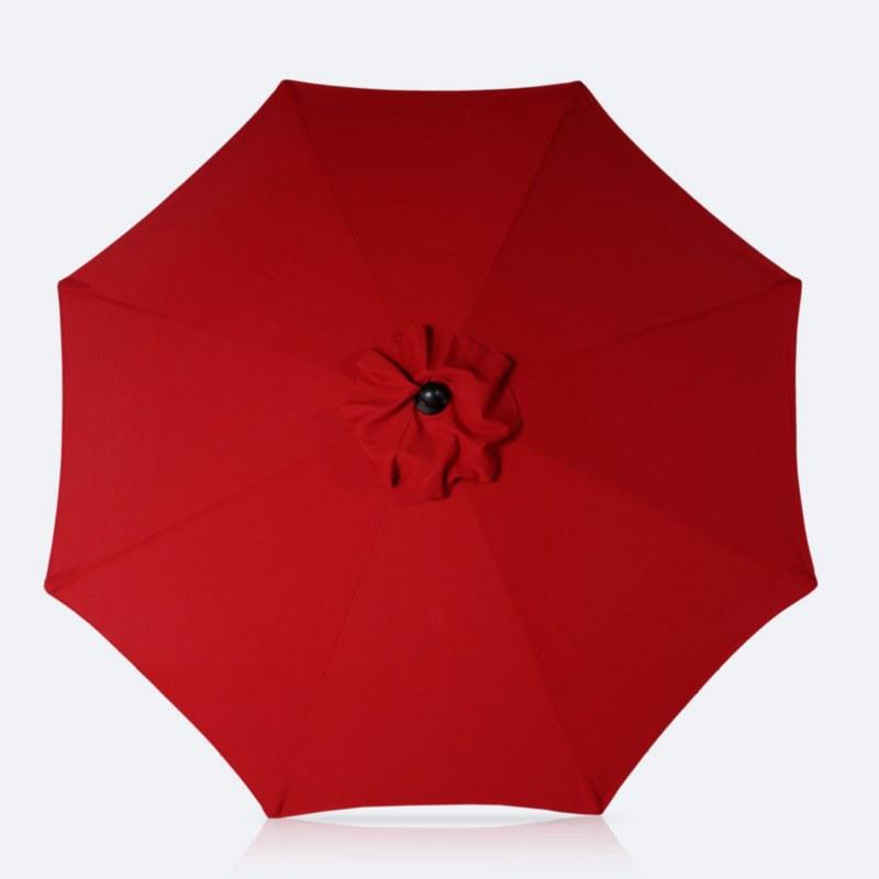 9' Autotilt Umbrella Red