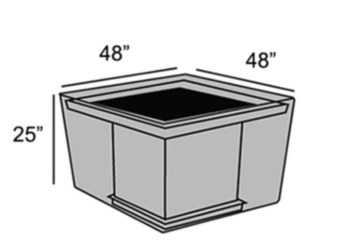 """Protective Cover - 44"""" Square Fire Pit Table"""