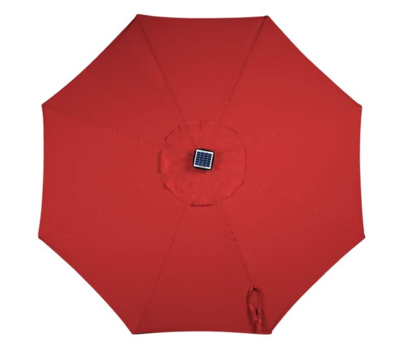 9' Umbrella with Solar Lights