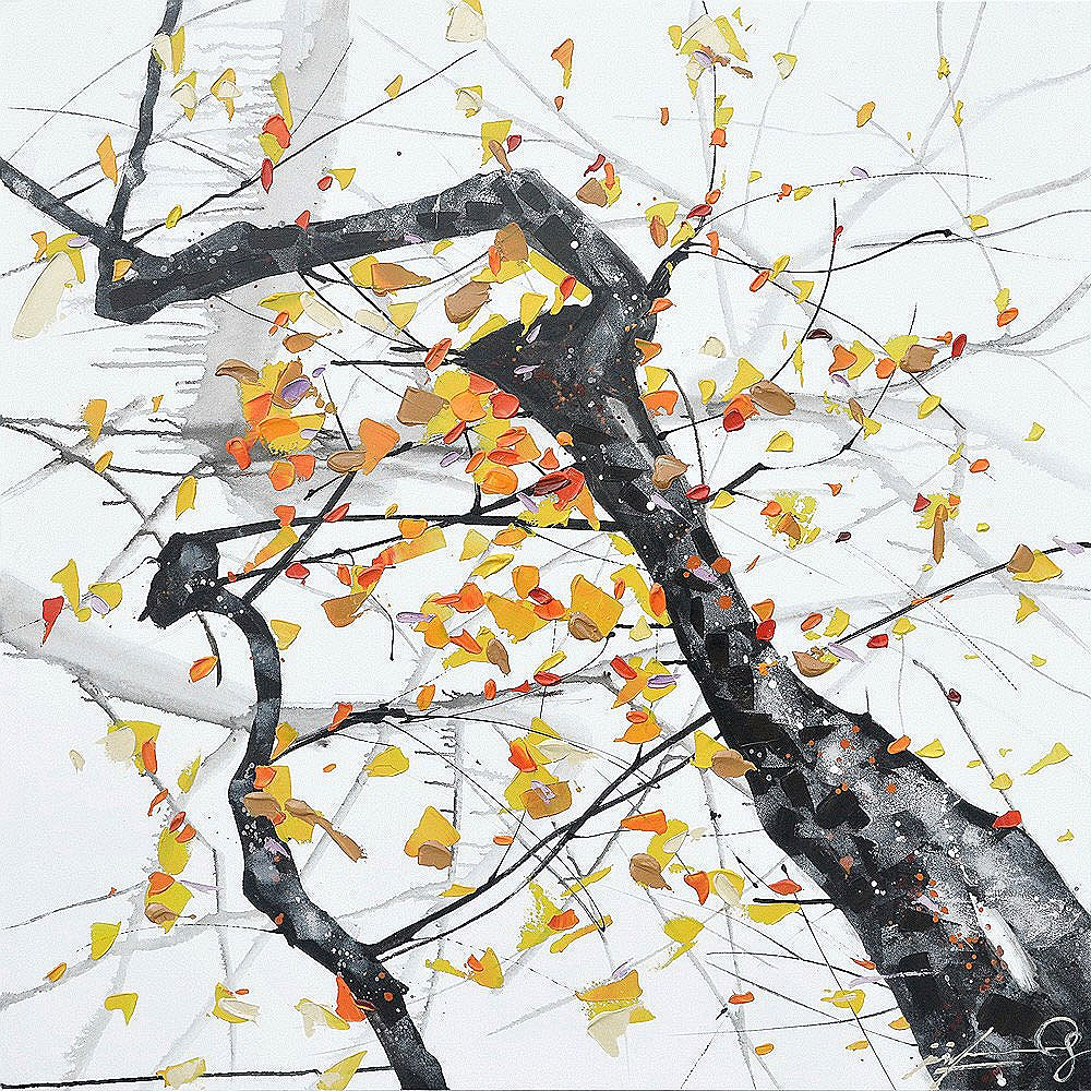 Oil Painting Abstract Tree D O T Furniture Limited