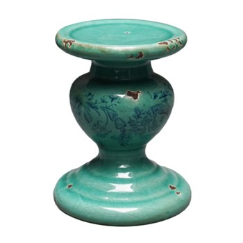 Ceramic Floral Candle Pillar