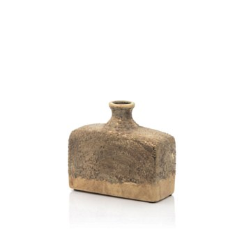 Ceramic Rustic Gold Vase