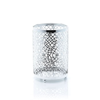 Metal with Glass Candleholder