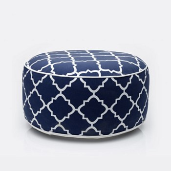 Blue Latice Patio Pouf