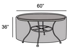 "Protective Cover - 60"" Round Table"
