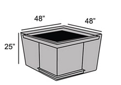 "Protective Cover - 44"" Square Fire Pit Table"