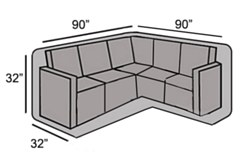 """Protective Cover - Small """"L"""" Shape Sectional Cover"""