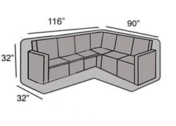 "Protective Cover - Left Hand Facing ""L"" Shape Sectional Cover"
