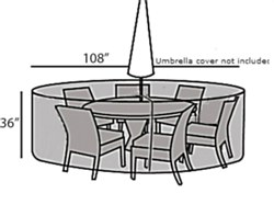 Protective Cover - Large Round Table & Chairs Set