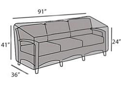 Protective Cover - Wicker Sofa