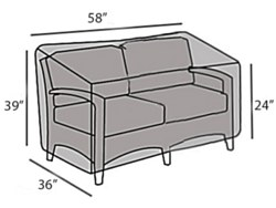 Protective Cover- Wicker Loveseat