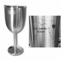 Stainless Wine Glass w/Lid