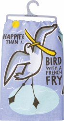 Dish Towel Bird With A Fry