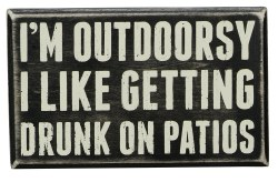 Box Sign Outdoorsy