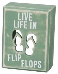 Box Sign Flip Flops