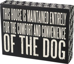 Box Sign Comfort Dog