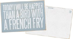 Wooden Postcard French Fries