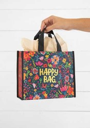Happy Bag Floral Teal/Gold