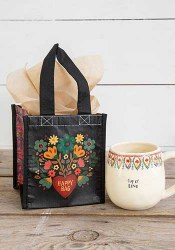 Happy Bag Folk Heart Black
