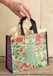 Giving Bag Flower Turq/Rust