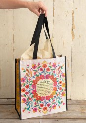 Giving Bag Floral Cream XL